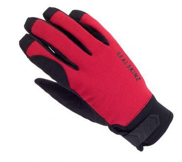 SealSkinz Dragon eye road cycling gloves black/red