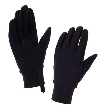 SealSkinz Stretch fleece nano cycling gloves black women