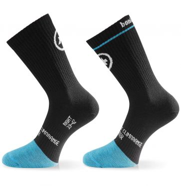 Assos BonkaSock Evo8 cycling socks black/blue