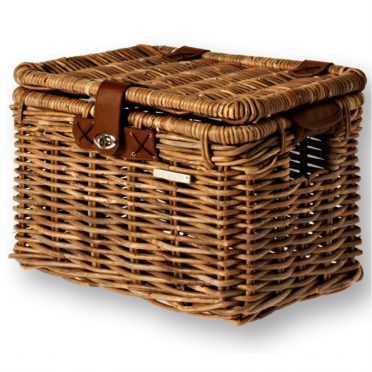 Basil Denton wicker bike basket brown M