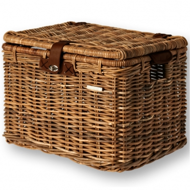 Basil Denton wicker bike basket brown L