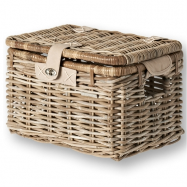 Basil Denton wicker bike basket grey M