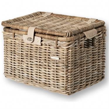 Basil Denton wicker bike basket grey L