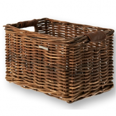 Basil Dorset wicker bike basket brown M