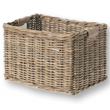 Basil Dorset wicker bike basket grey L