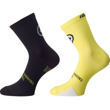 Assos TiburuSocks_evo8 cycling socks yellow 2-pack