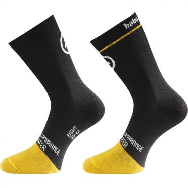 Assos HabuSock_evo8 cycling socks black/yellow