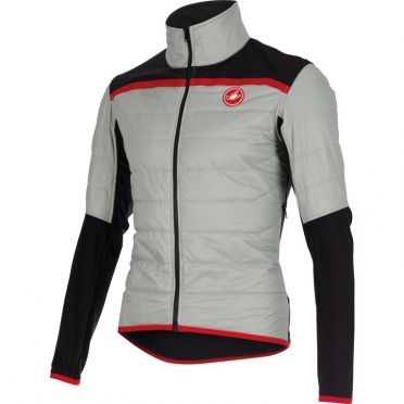Castelli Cross prerace cycling jacket silver mens 15501-003