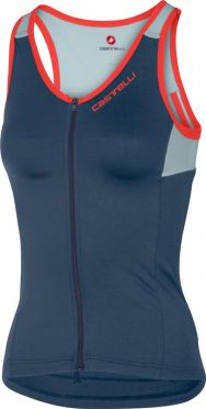 Castelli Solare top sleeveless blue/grey women