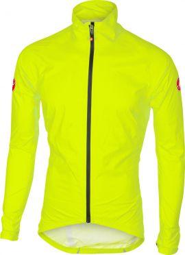 Castelli Emergengy rain jacket yellow-fluo men