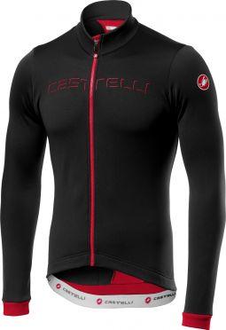 Castelli Fondo long sleeve jersey black/red men