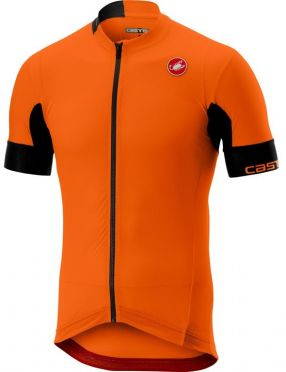 Castelli Aero race 4.1 solid FZ jersey orange men