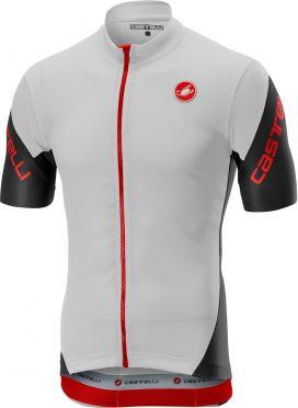 Castelli Entrata 3 FZ jersey short sleeve white men