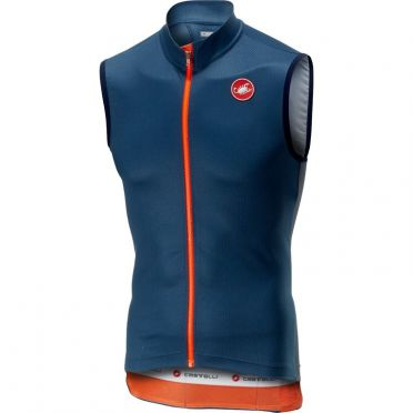 Castelli Entrata 3  jersey sleeveless blue men