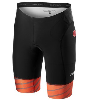 Castelli Free tri short black/orange men