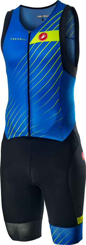 Castelli Free sanremo trisuit sleeveless blue men