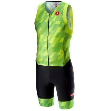 Castelli Free sanremo trisuit sleeveless pro green/black men