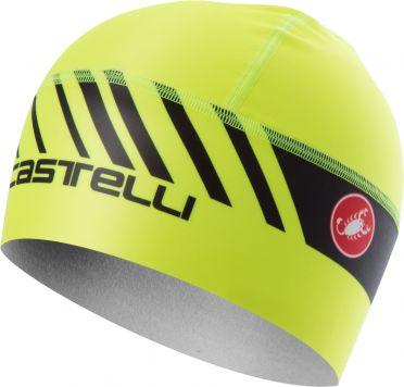 Castelli Arrivo 3 thermo skully under helmet yellow fluo men