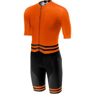 Castelli Sanremo 4.0 speed suit short sleeve orange/black men