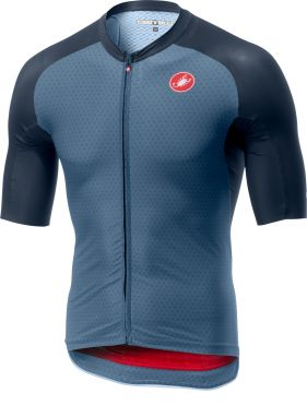 Castelli Aero race 6.0 FZ short sleeve jersey blue men
