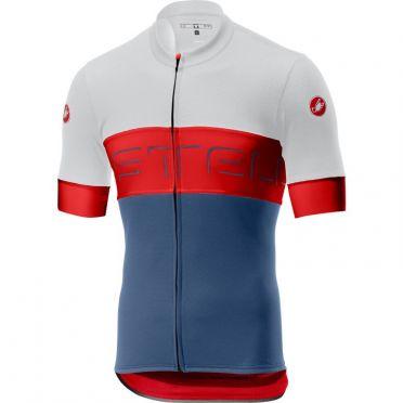 Castelli Prologo VI jersey ivory/red/blue