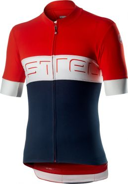 Castelli Prologo VI jersey red/white/blue men