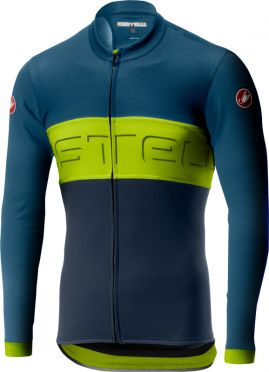 Castelli Prologo VI jersey long sleeve blue/yellow men