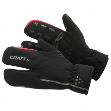 Craft Thermal Split Finger gloves black 1901624
