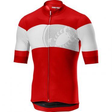 Castelli Ruota jersey red