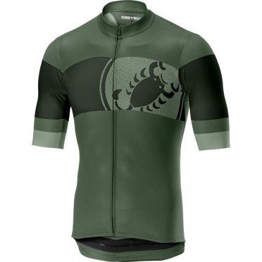Castelli Ruota jersey green