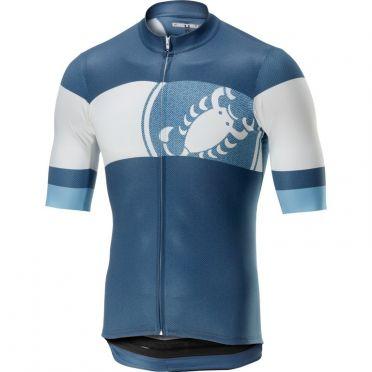 Castelli Ruota jersey blue