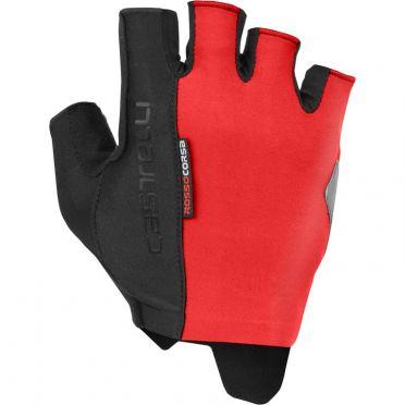 Castelli Rosso Corsa Espresso glove red men