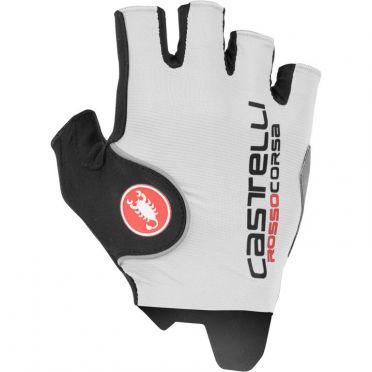 Castelli Rosso corsa pro glove white men