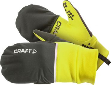 Craft Hybrid weather running glove yellow