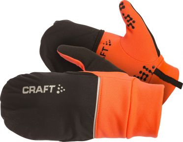 Craft Hybrid weather running glove orange