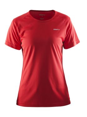 Craft Prime short sleeve running shirt red women