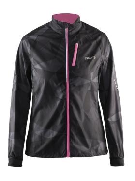 Craft Devotion running jacket black/pink women