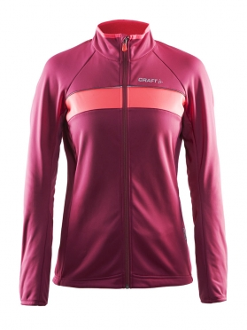 Craft Siberian cycling jacket ruby women