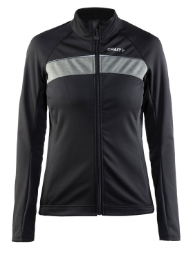 Craft Siberian cycling jacket black/grey women