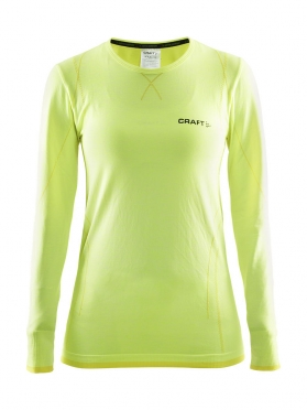 Craft Active Comfort roundneck long sleeve baselayer yellow women