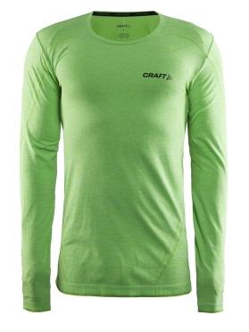 Craft Active Comfort roundneck long sleeve baselayer green/shout men