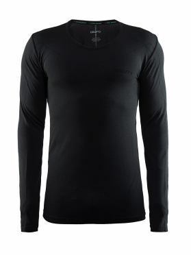 Craft Active Comfort roundneck long sleeve baselayer black solid men