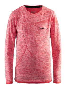 Craft Active Comfort long sleeve baselayer red/poppy junior