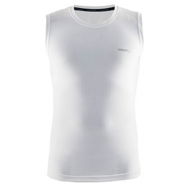 Craft Stay cool mesh seamless sleeveless shirt white men