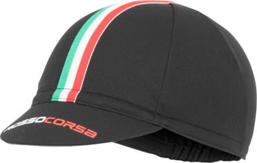 Castelli Rosso corsa cycling cap black men