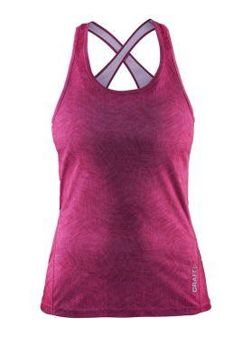 Craft Mind sleeveless running shirt pink women