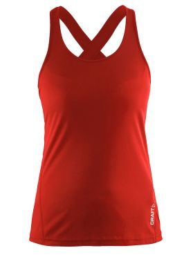 Craft Mind sleeveless running shirt red women