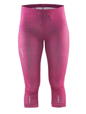 Craft Mind capri 3/4 run tight pink women