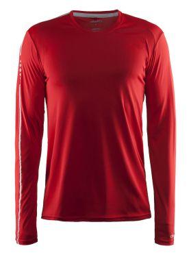 Craft Mind long sleeve running shirt red men
