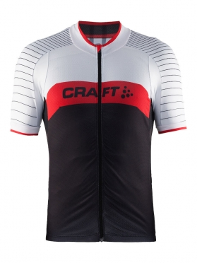 Craft Gran fondo cycle jersey men white/red/black